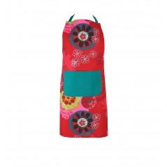 Sort bucatarie bumbac cu imprimeu modern Mandala rosu