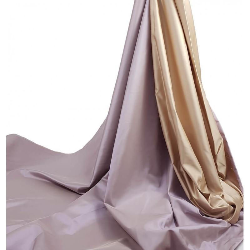 Metraj draperie tafta cu 2 fete Oasis lila si auriu