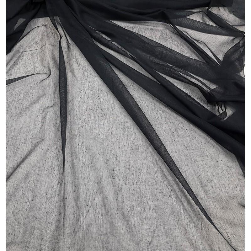 Metraj perdea simpla texturata Karo negru