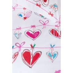 Lenjerie de pat pt fete cu inimioare Garland