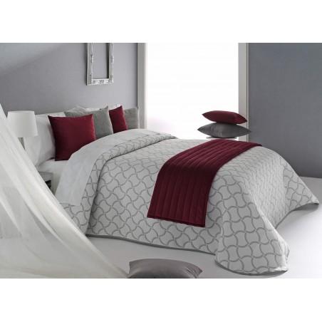 Cuvertura de pat eleganta Odd gri cu alb