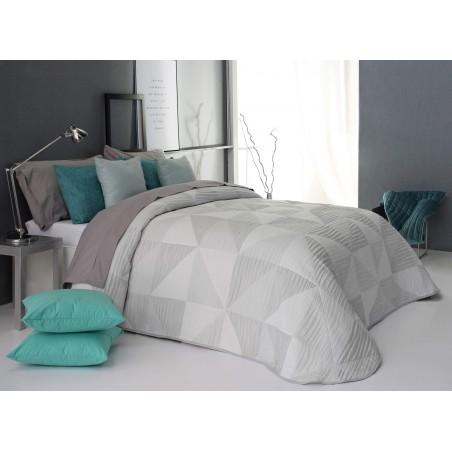 Cuvertura de pat cu motive geometrice Ollie gri