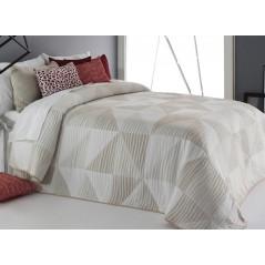 Cuvertura de pat cu motive geometrice Ollie bej