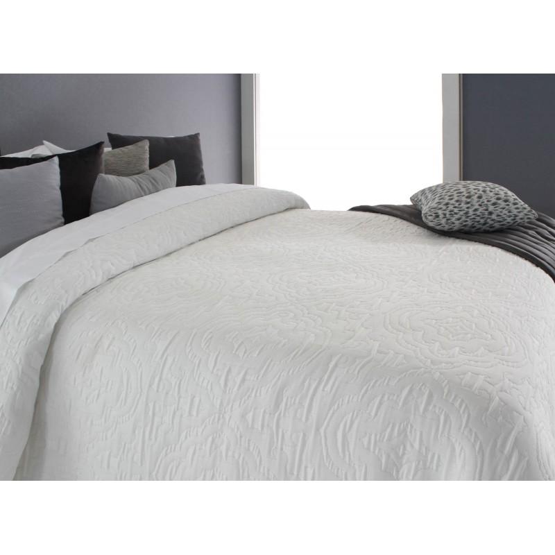 Cuvertura de pat cu model elegant Osborn alb