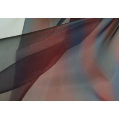 Metraj perdea moderna organza degrade bleumarin si grena