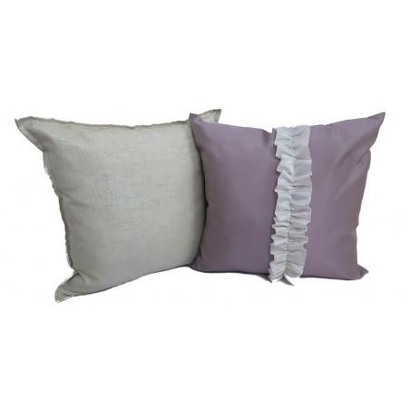 Set 2 perne decorative elegante gri si mov