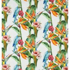 Metraj draperie si tapiterie din bumbac Jungle Parrot