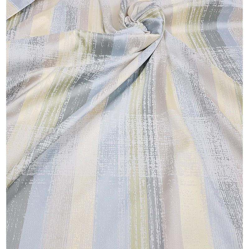 Metraj draperie cu design abstract vesel bleu bej si galben