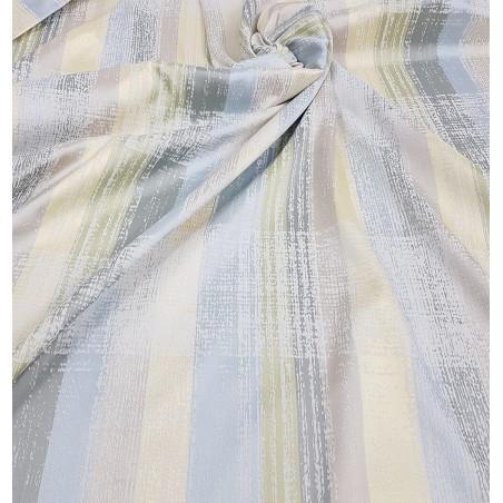 Metraj draperie vesela Karo bleu gri si galben